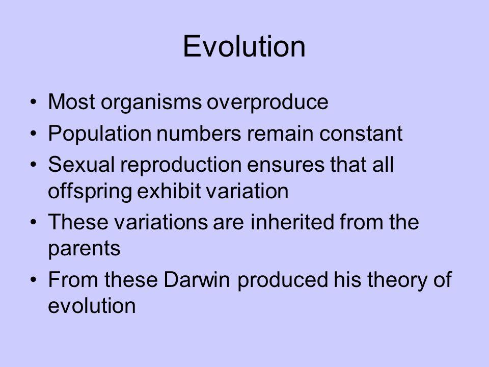 Evolution Most organisms overproduce