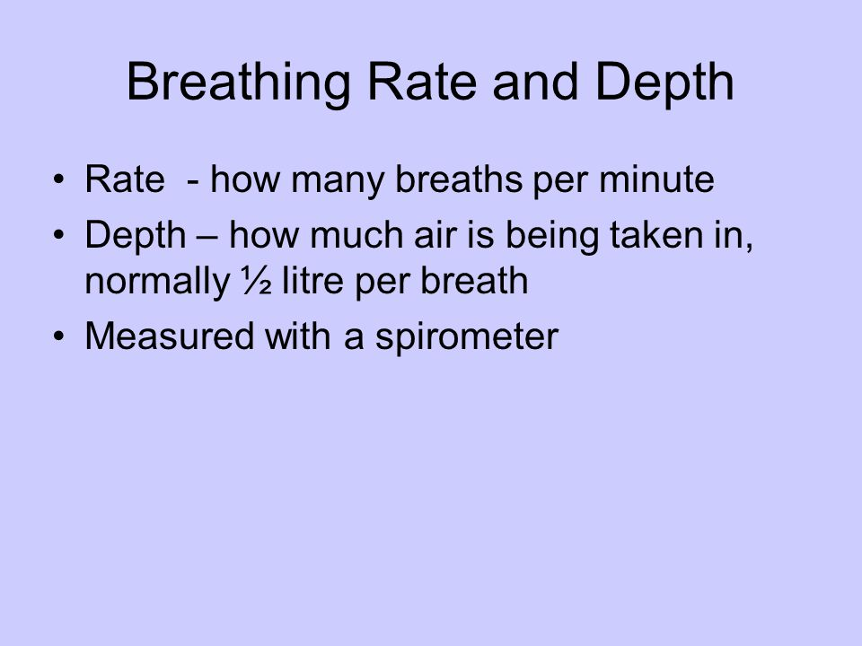 Breathing Rate and Depth