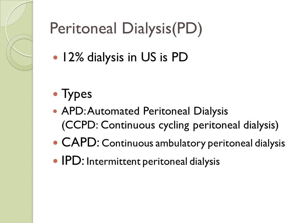 Peritoneal Dialysis(PD)