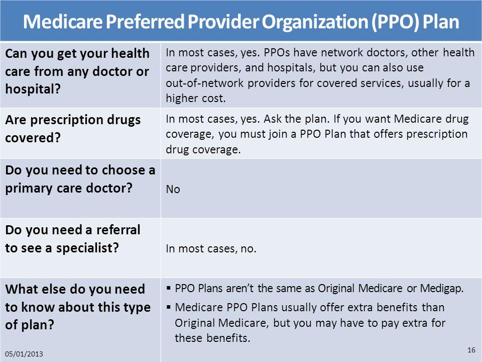 Medicare Preferred Provider Organization (PPO) Plan