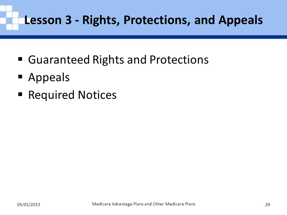 Lesson 3 - Rights, Protections, and Appeals