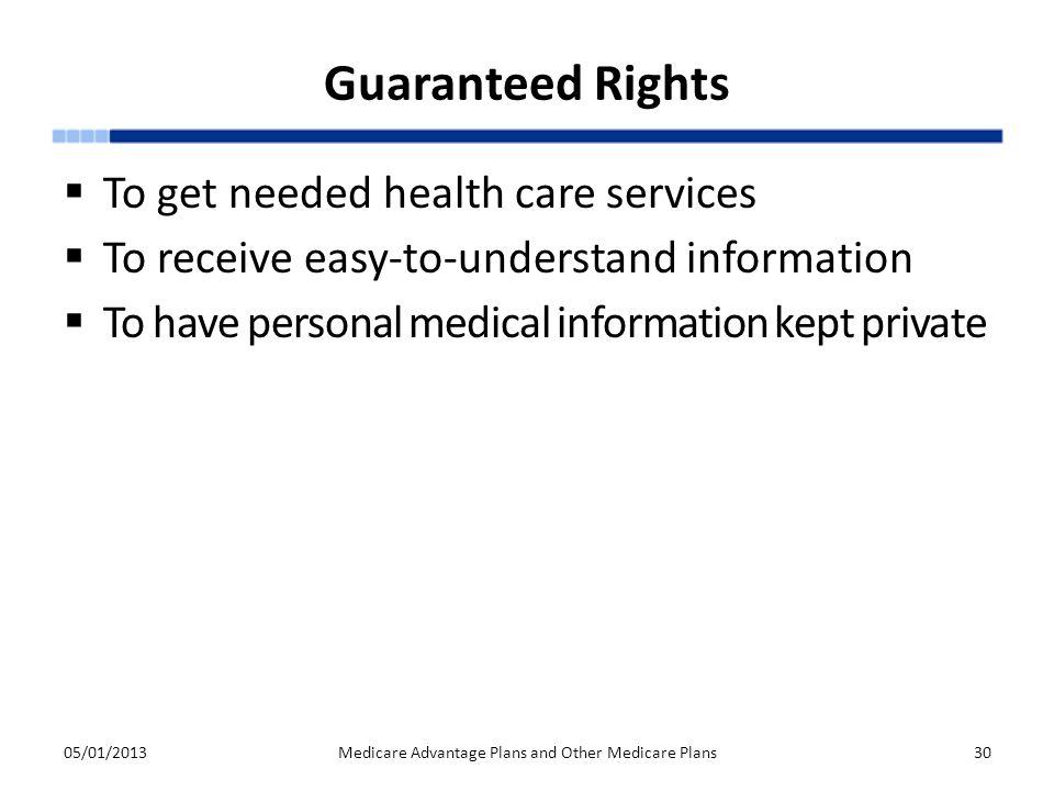 Medicare Advantage Plans and Other Medicare Plans