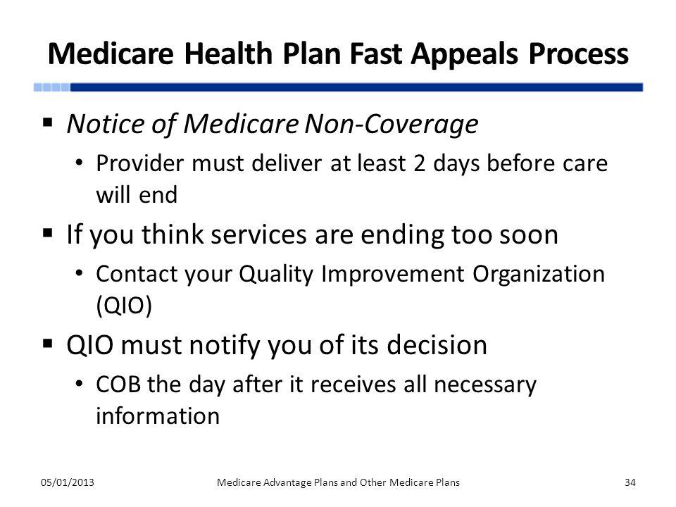 Medicare Health Plan Fast Appeals Process