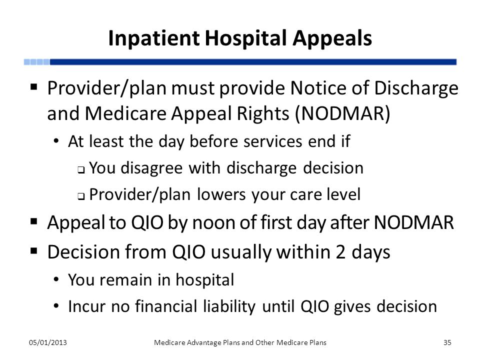 Inpatient Hospital Appeals