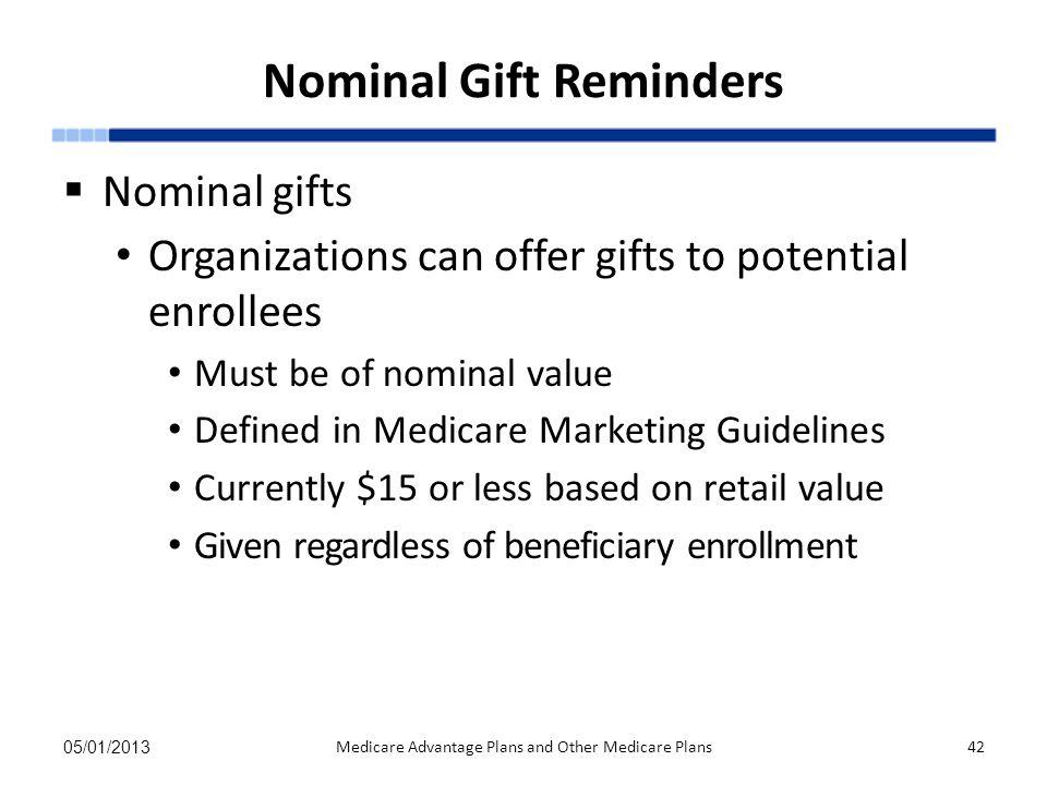 Nominal Gift Reminders