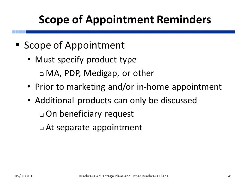 Scope of Appointment Reminders