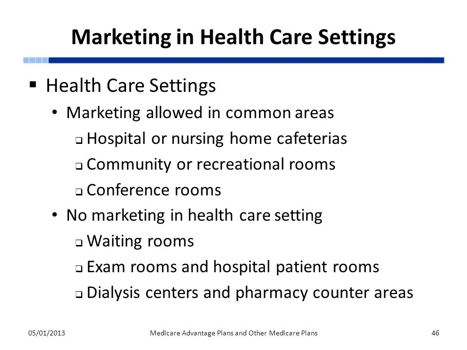 Marketing in Health Care Settings