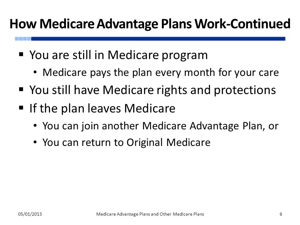 How Medicare Advantage Plans Work-Continued