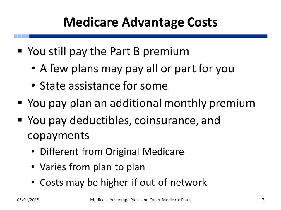 Medicare Advantage Costs