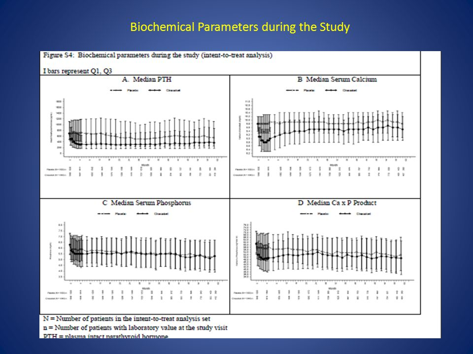 Biochemical Parameters during the Study