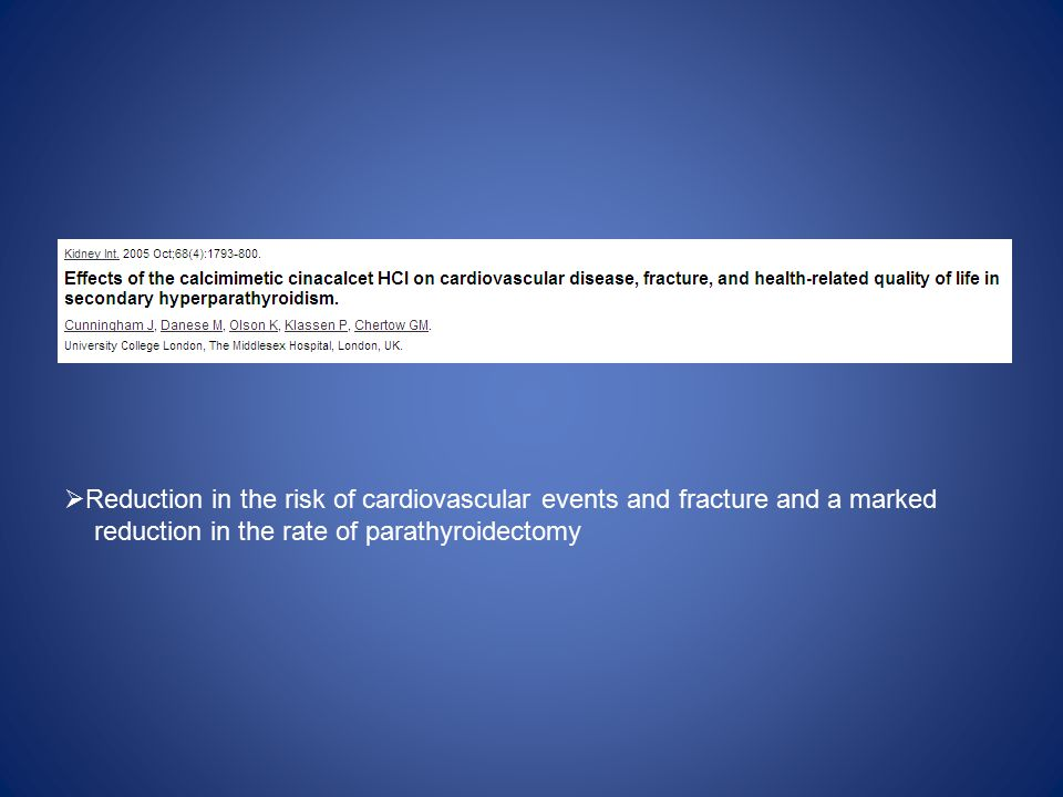 Reduction in the risk of cardiovascular events and fracture and a marked