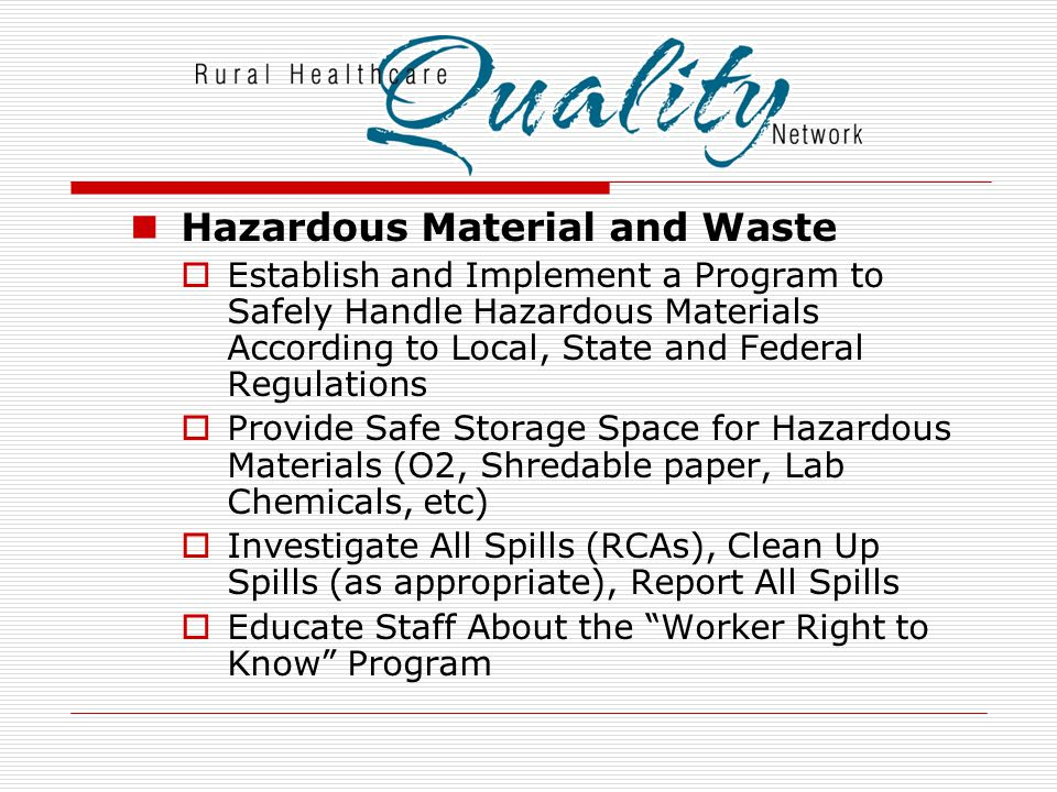 Hazardous Material and Waste