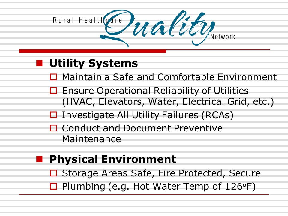 Utility Systems Physical Environment
