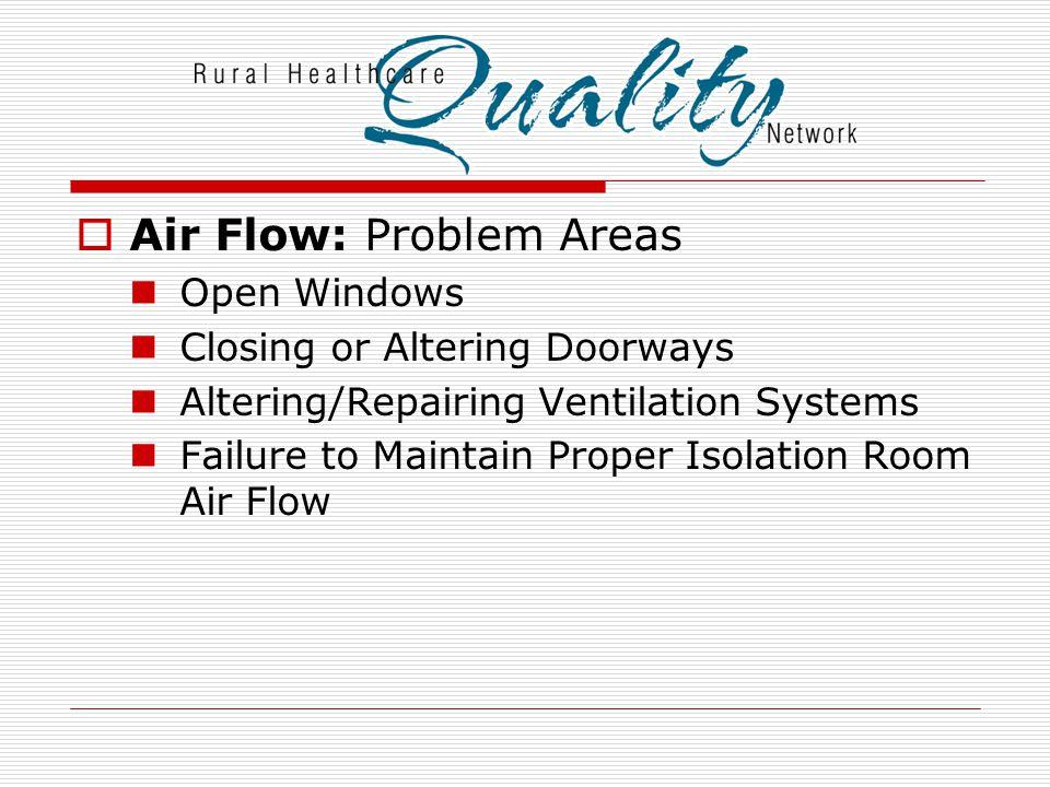Air Flow: Problem Areas