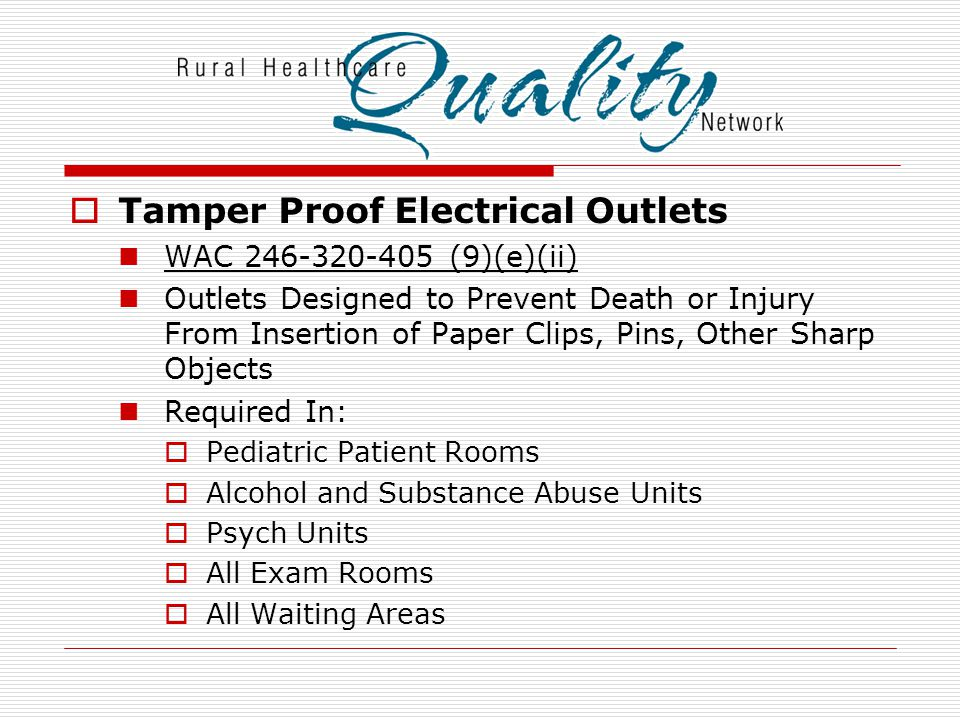 Tamper Proof Electrical Outlets