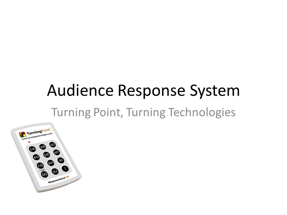 Audience Response System