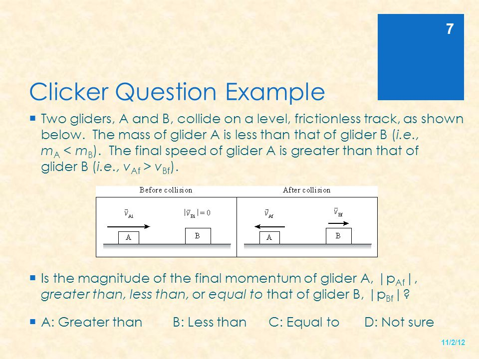 Clicker Question Example