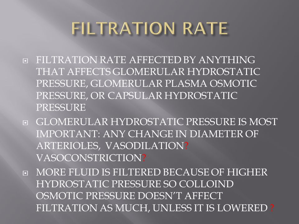 FILTRATION RATE