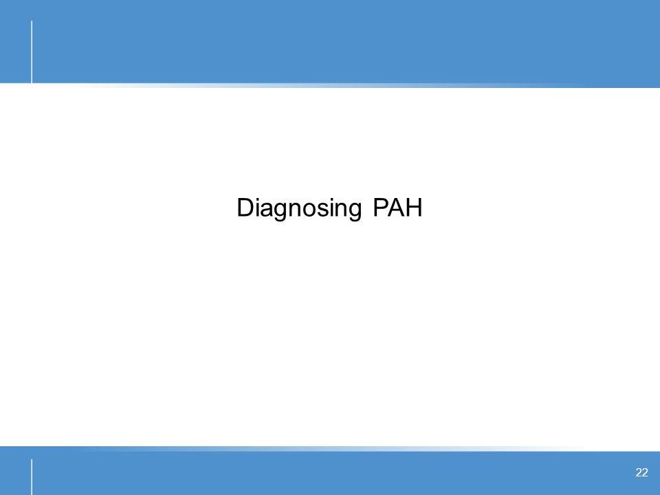 Diagnosing PAH 22