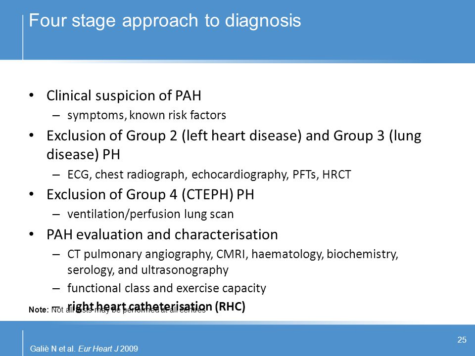Four stage approach to diagnosis