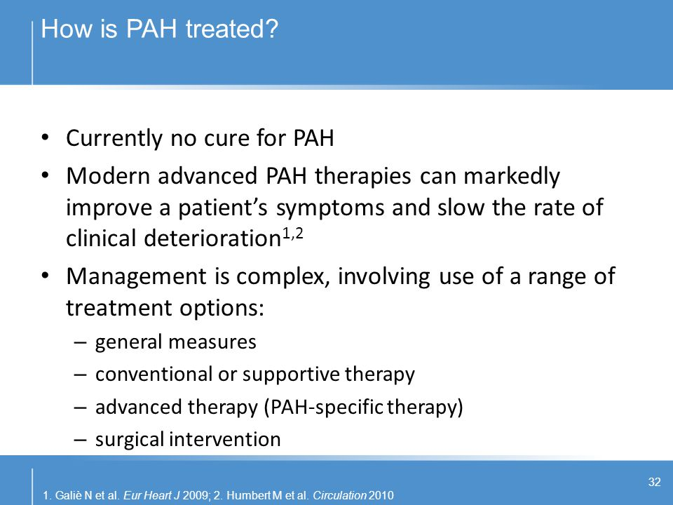 Currently no cure for PAH