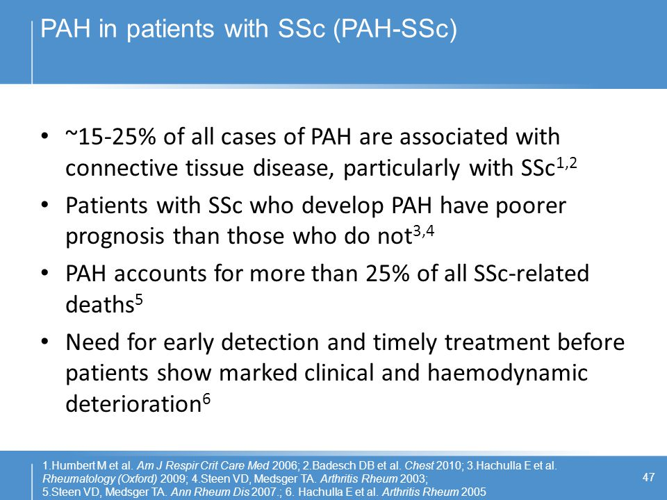PAH in patients with SSc (PAH-SSc)