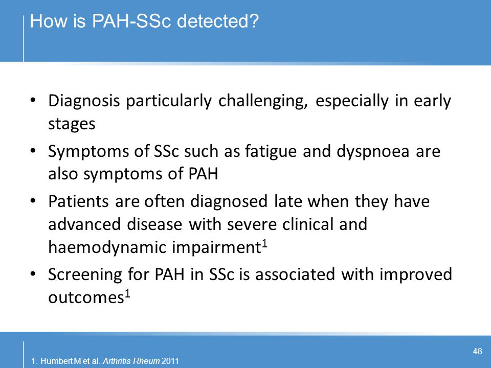 How is PAH-SSc detected