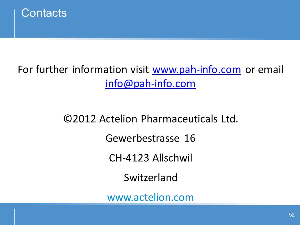 ©2012 Actelion Pharmaceuticals Ltd.
