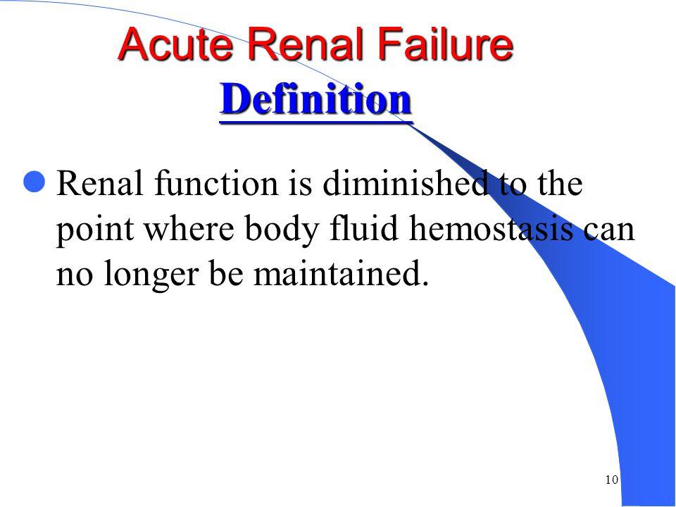 Acute Renal Failure Definition