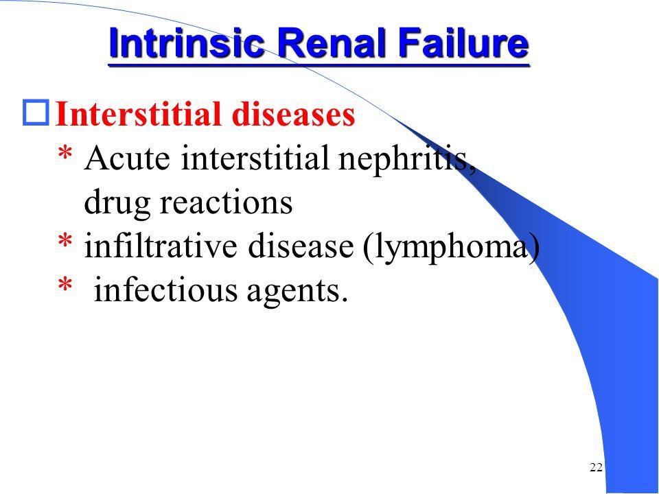 Intrinsic Renal Failure