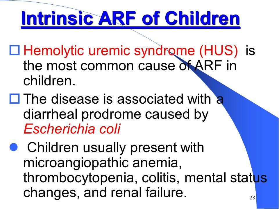 Intrinsic ARF of Children