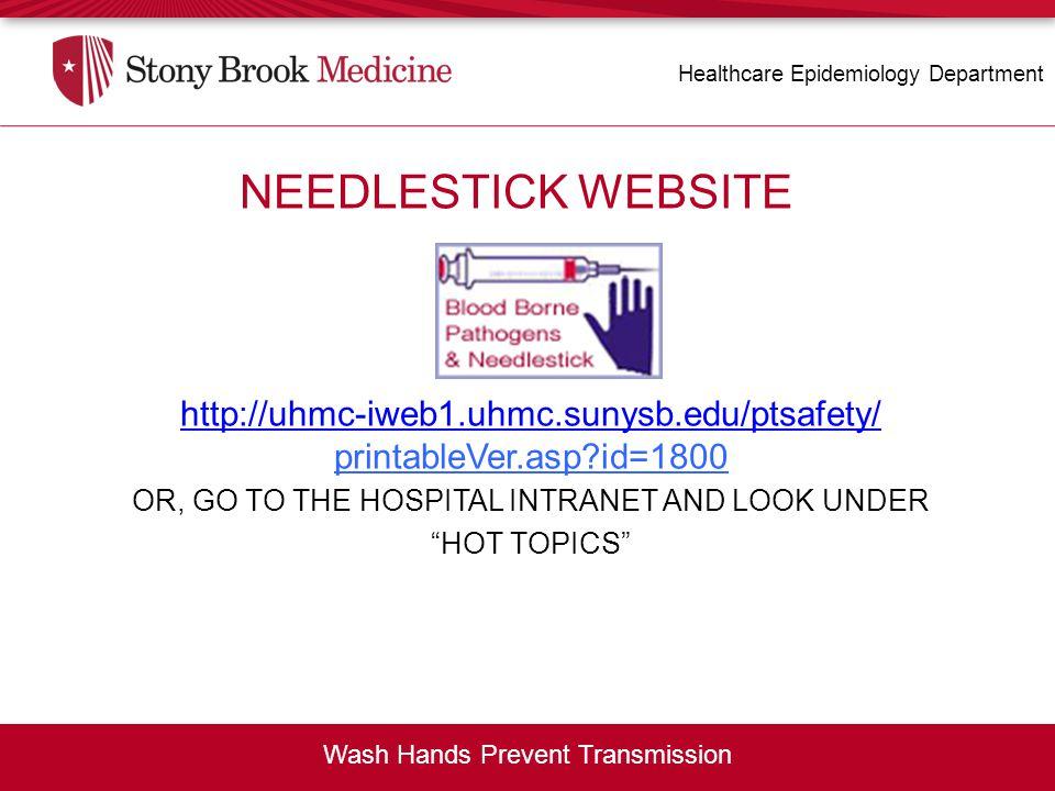 NEEDLESTICK WEBSITE NEEDLESTICK WEBSITE