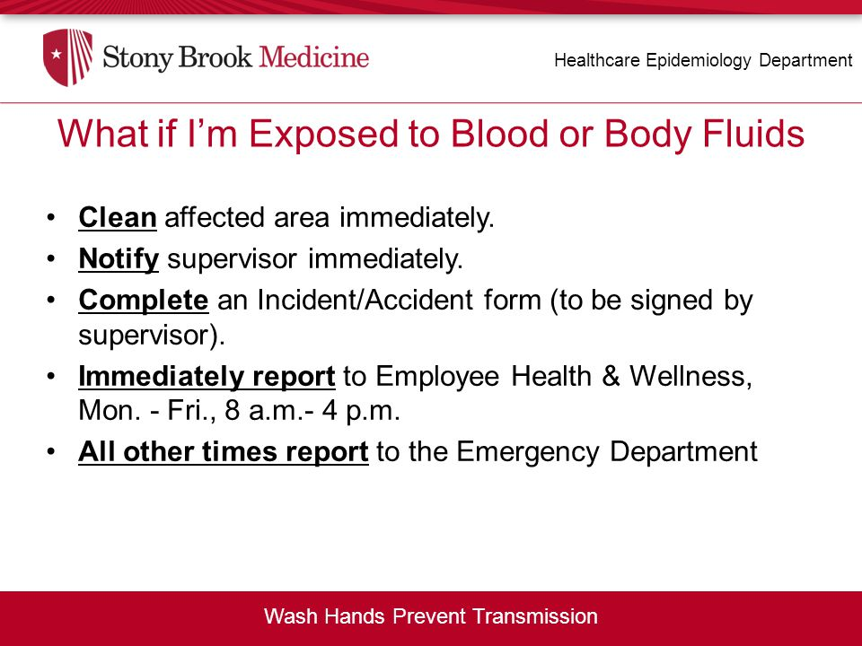 What if I m Exposed to Blood or Body Fluids