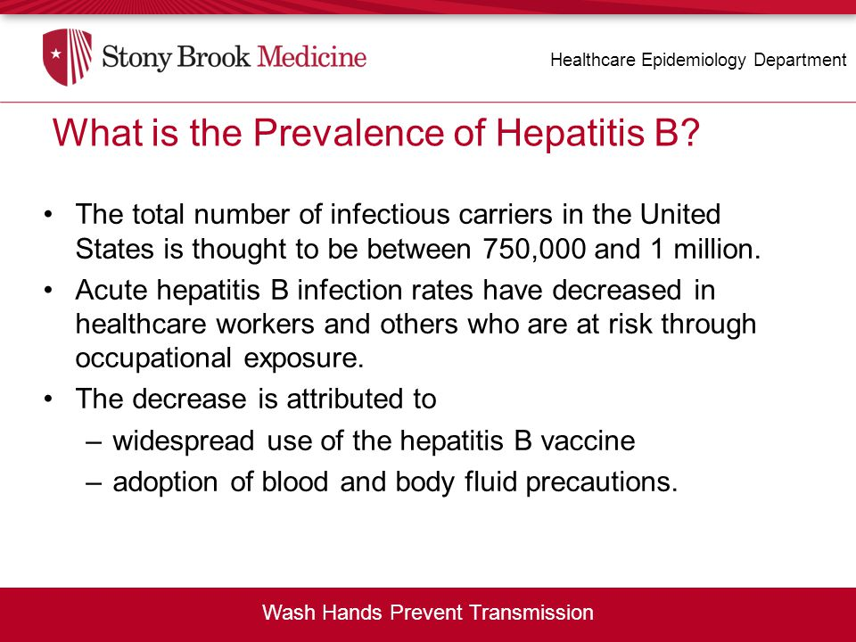 What is the Prevalence of Hepatitis B