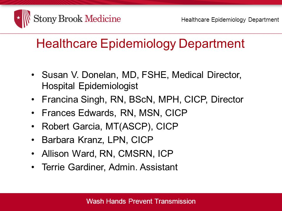 Healthcare Epidemiology Department