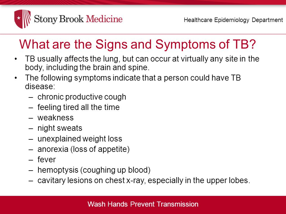 What are the Signs and Symptoms of TB