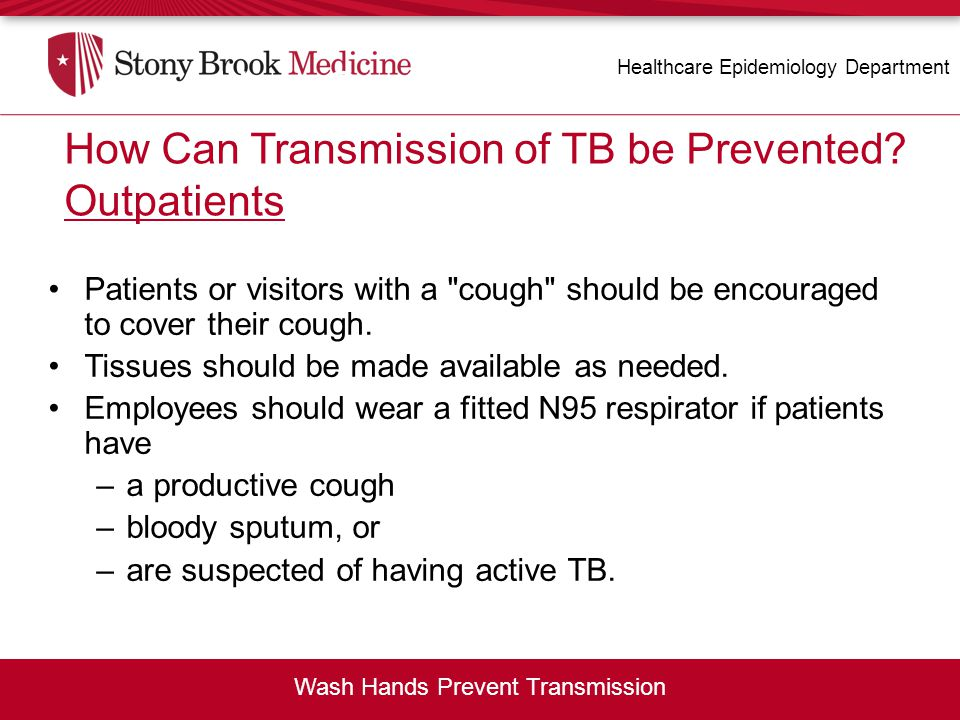 How Can Transmission of TB be Prevented Outpatients