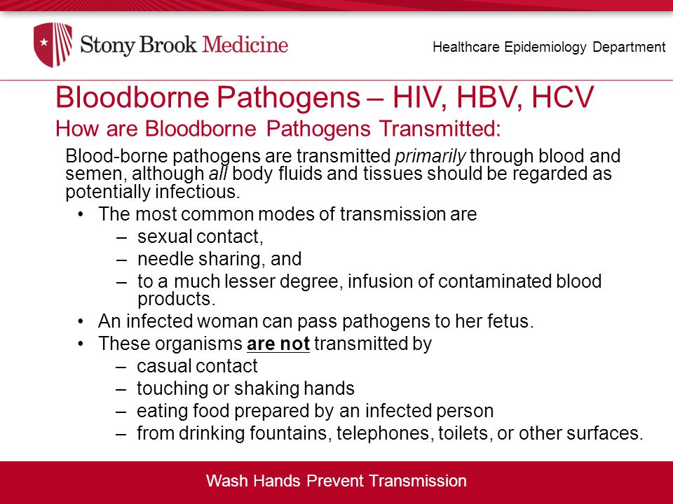 Blood-borne Pathogens – HIV, HBV, HCV