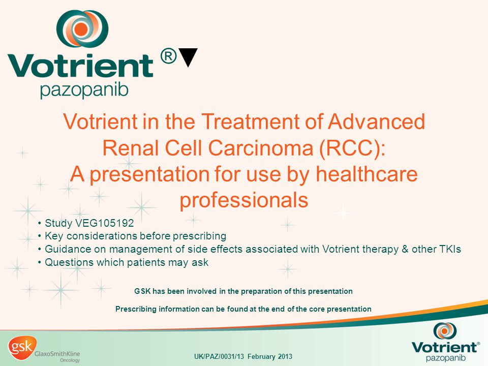 GSK has been involved in the preparation of this presentation