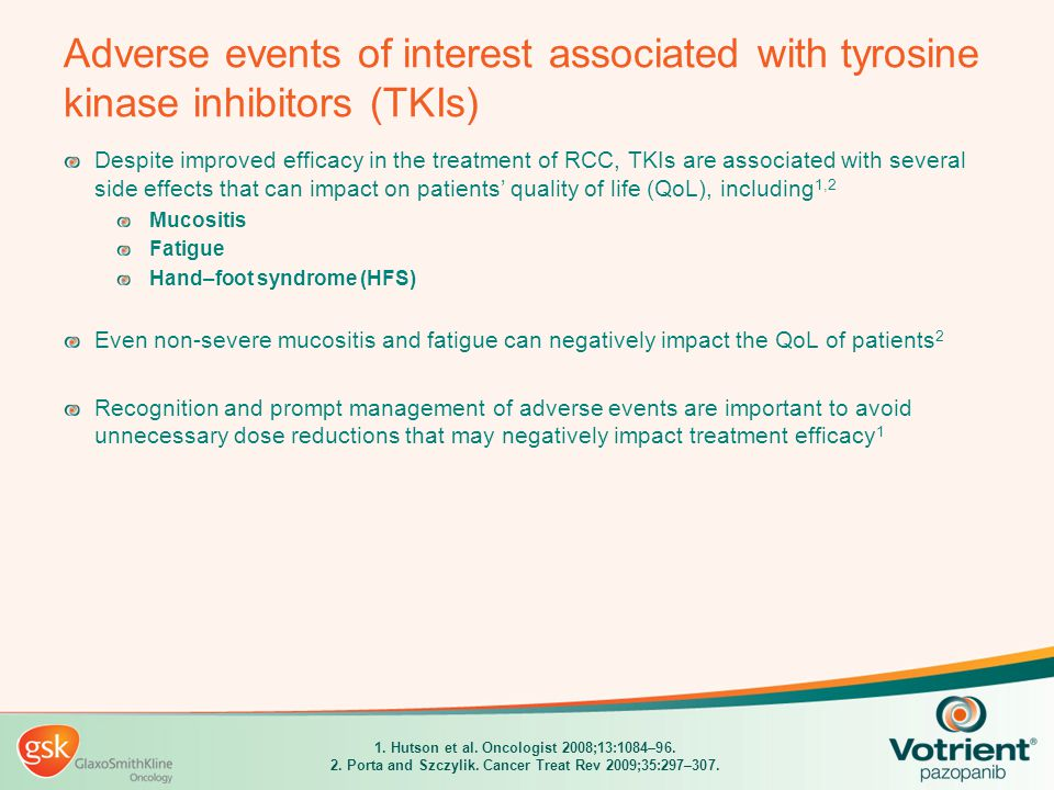 Adverse events of interest associated with tyrosine kinase inhibitors (TKIs)