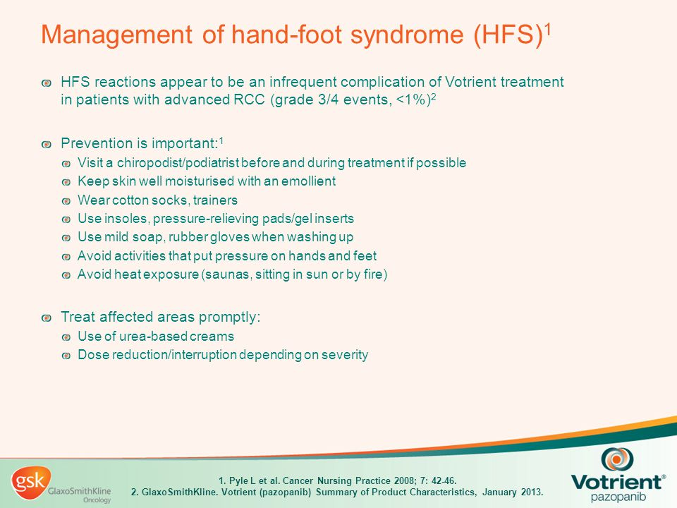 Management of hand-foot syndrome (HFS)1