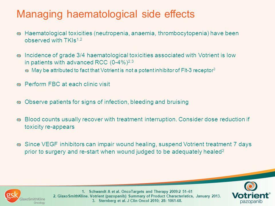 Managing haematological side effects