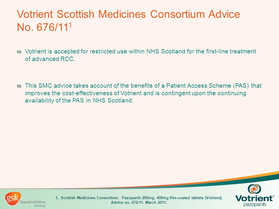 Votrient Scottish Medicines Consortium Advice No. 676/111