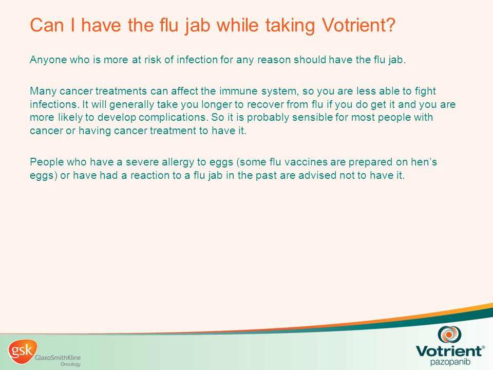 Can I have the flu jab while taking Votrient