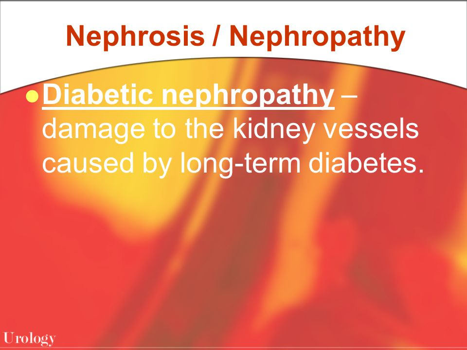 Nephrosis / Nephropathy