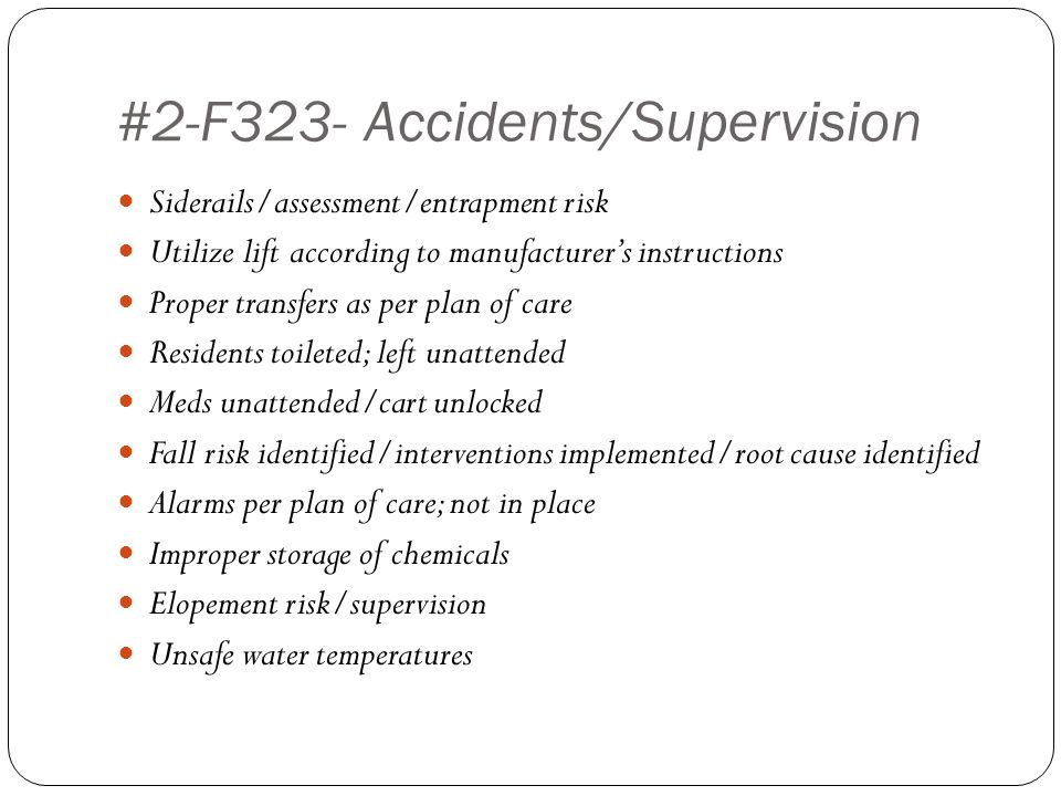 #2-F323- Accidents/Supervision