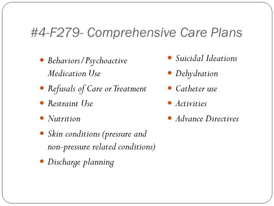 #4-F279- Comprehensive Care Plans