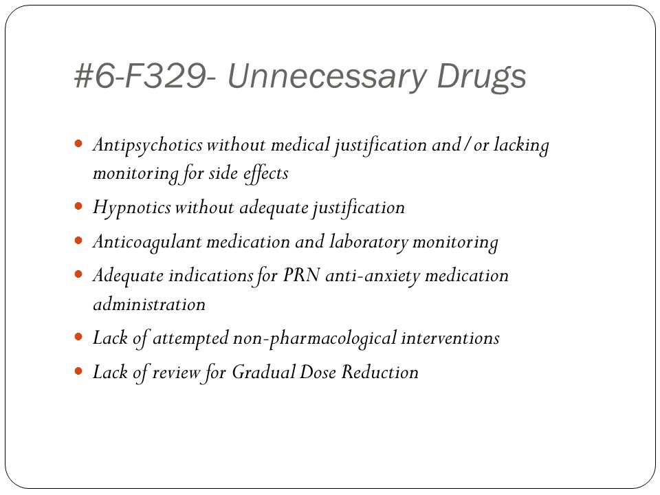 #6-F329- Unnecessary Drugs