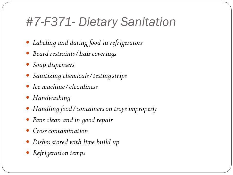 #7-F371- Dietary Sanitation