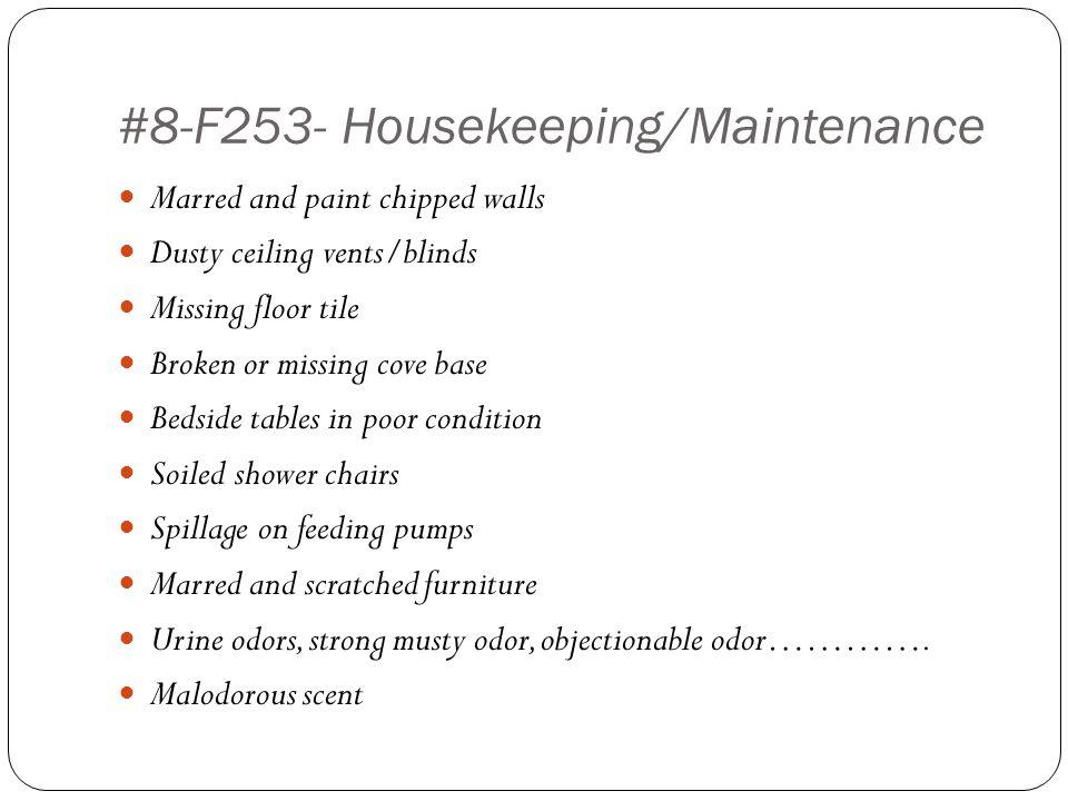 #8-F253- Housekeeping/Maintenance